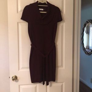 Sweater Dress with ribbed detail